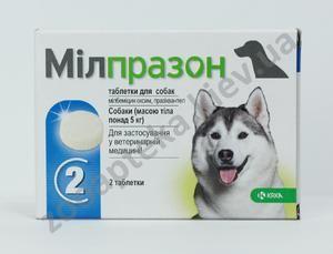 Милпразон е антихелминтски агенс со широк спектар за мачки и кучиња
